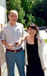 Eri Arai with Kenichiro Sasae, Japanese Ambassador to the United States